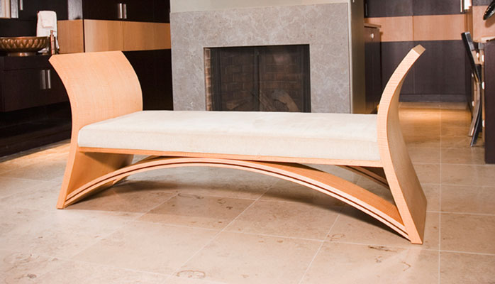 Lotus Bench Anigre Wood